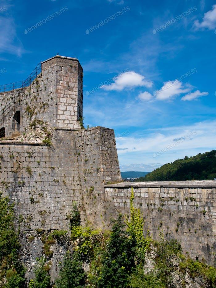 Französische mittelalterliche Festung