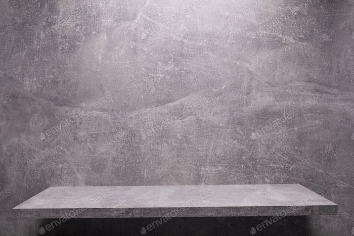 Abstract painted background texture and shelf at wall. Book shelf at  wall background