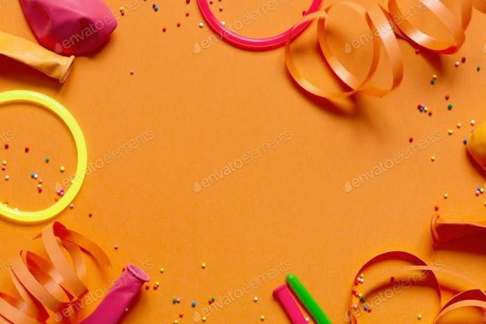 Orange Birthday Background