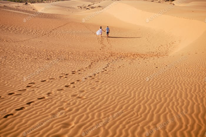 Paar Reise Sanddüne