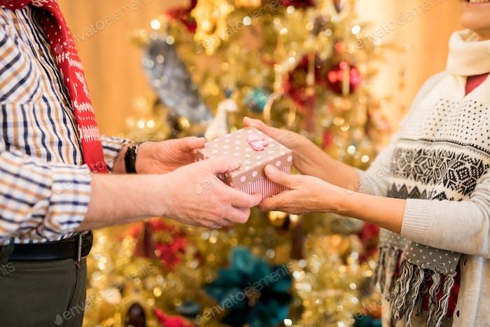 Feiern Liebhaber mit Weihnachten