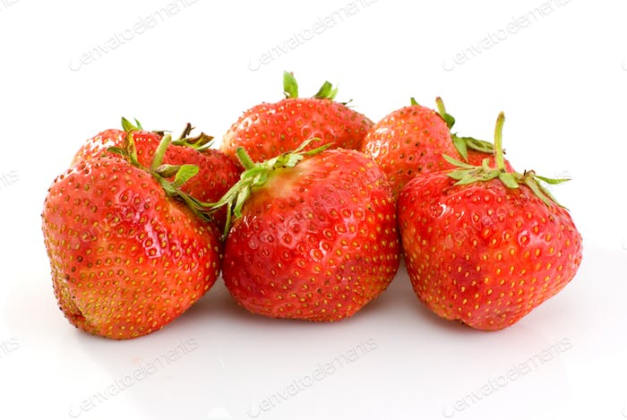 Some tasty ripe red strawberries