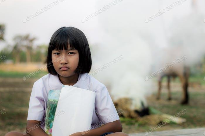asiatische Mädchen der student