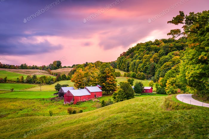 Farmland in Vermont