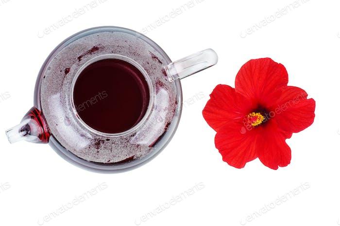 Hibiskus Tee und Blume