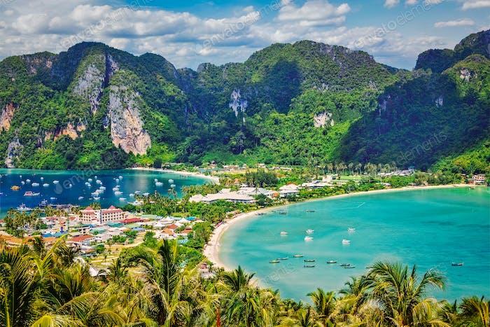 Grüne tropische Insel