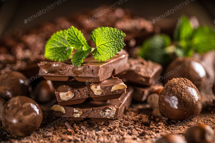 Composition of chocolate