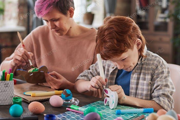 People making crafts