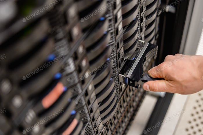 IT Professional Removing Server Drive In San