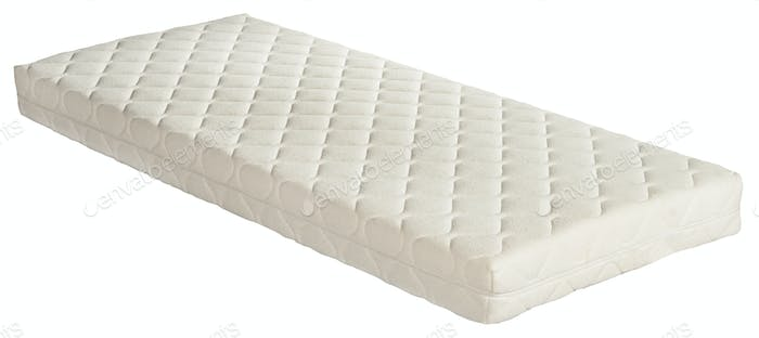 Orthopaedic mattress isolated on white