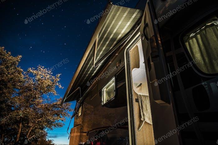 Starry Sky Over Camper RV