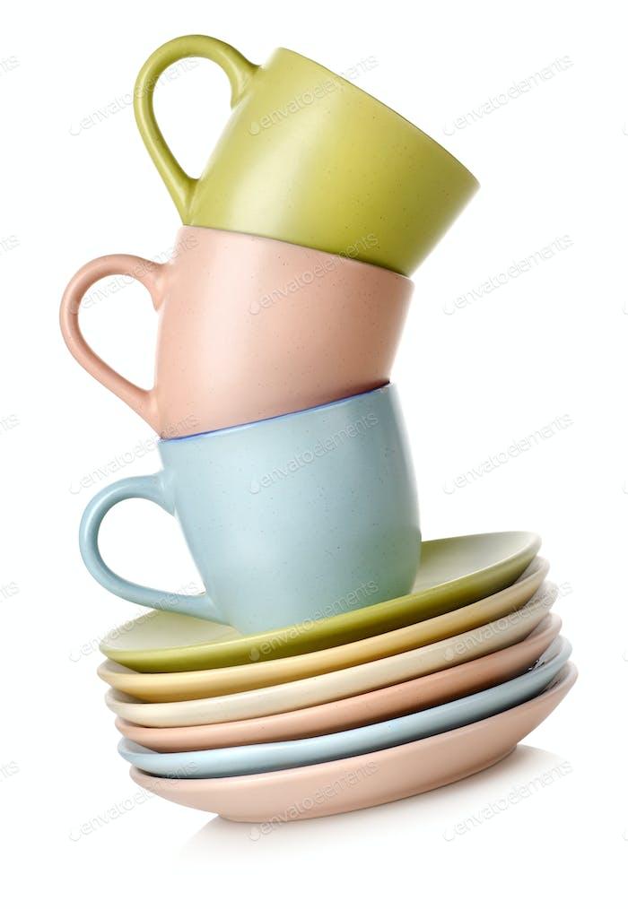 Tassen und Geschirr isoliert