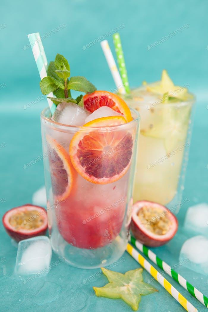 Colorful summer cocktail