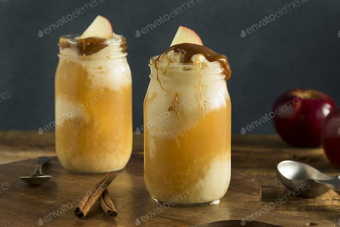 Cold Apple Cider Ice Cream Float