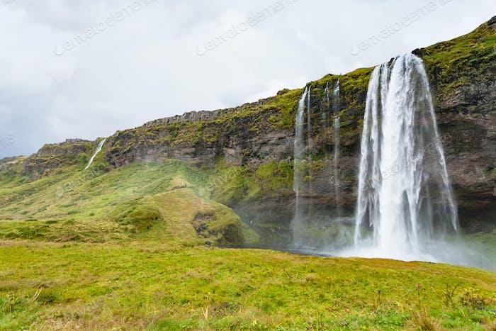 view of Seljalandsfoss waterfall in autumn