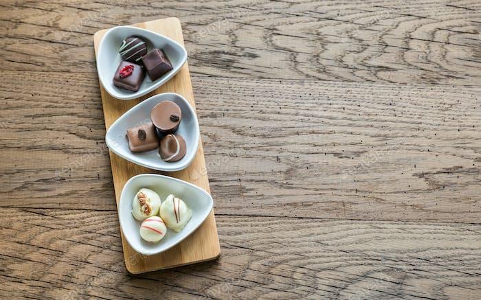 Schweizer Schokoladenbonbons