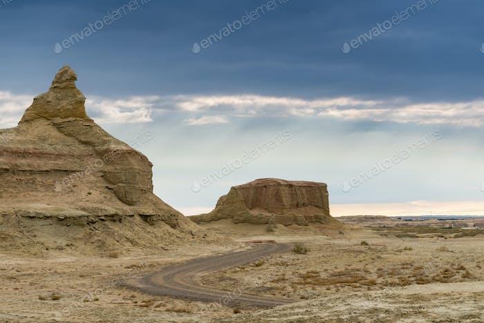 Wind-Erosion Landformen Landschaft
