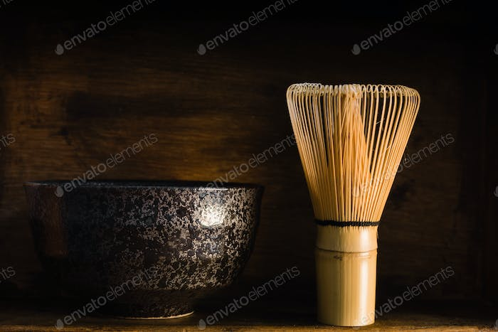 Japanese Matcha Tea Whisk and Bowl