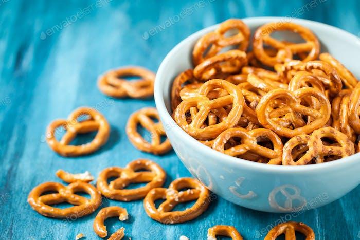Salty snacks mini pretzels