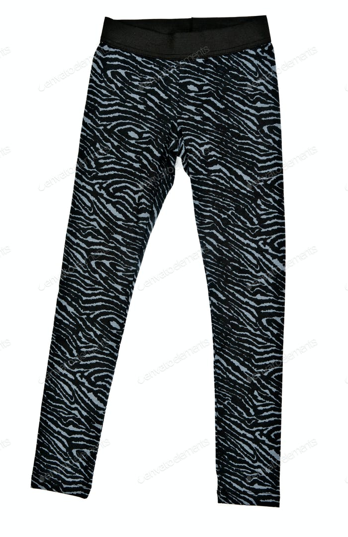 Black women's tight leggings