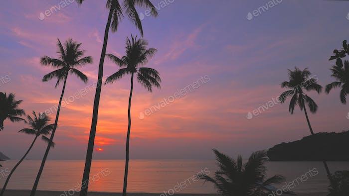 sunset sky over thailand national marine park