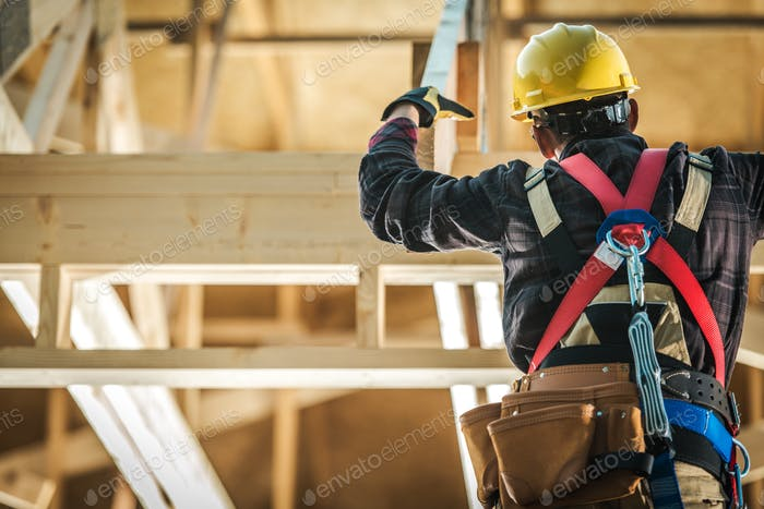 Wood Construction Worker