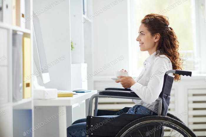Disable office worker