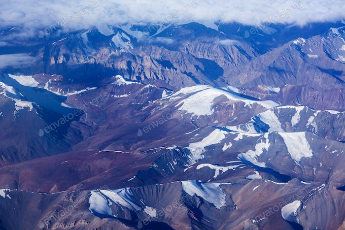 Himalayas mountains aerial view