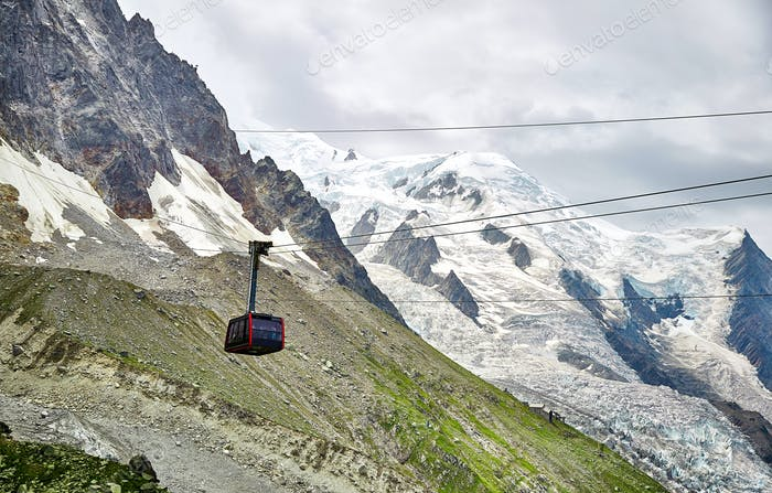 The Aiguille du Midi cable car