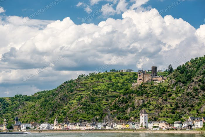 Katz Castle at Rhine Valley near St. Goarshausen, Germany