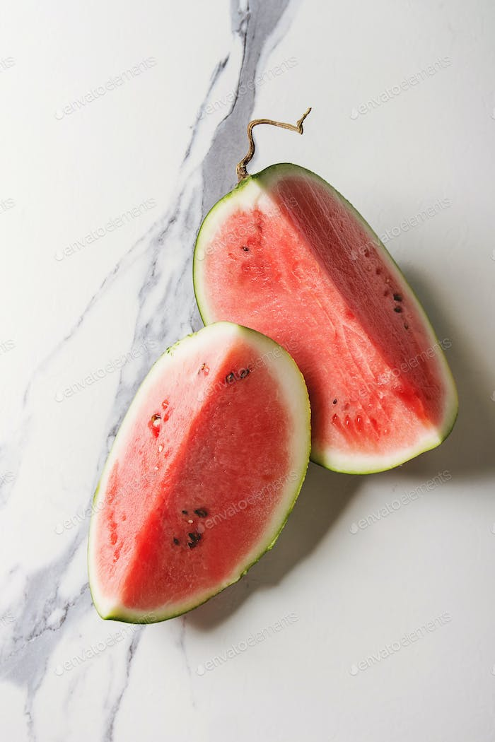Ripe sliced watermelon