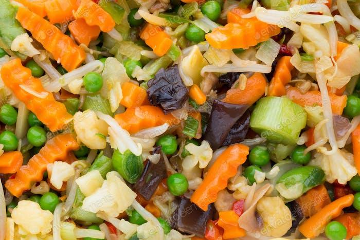 Fresh frozen vegetables eco food, natur.