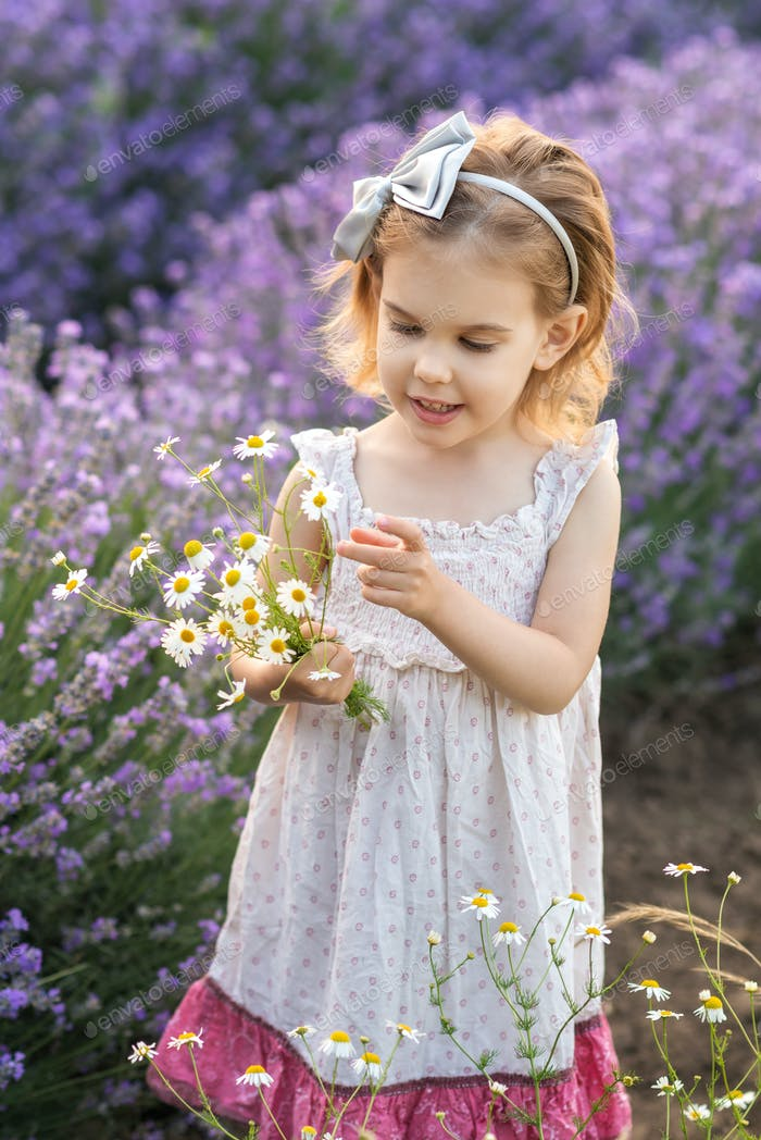 Girl in a lavender field