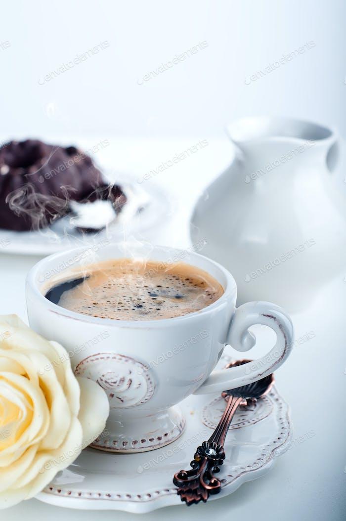 Frühstück mit Kaffee