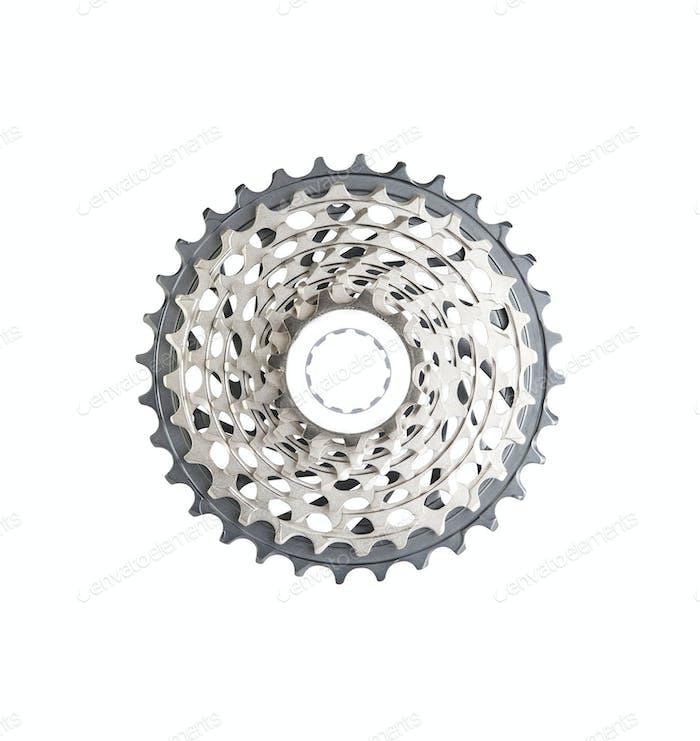 bike cassette top view