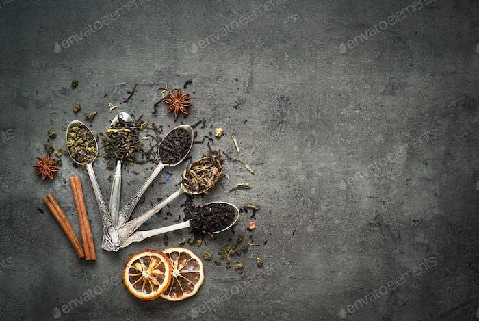 Dry Tea assortment.