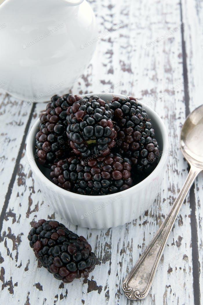 Fresh and Juicy Blackberries