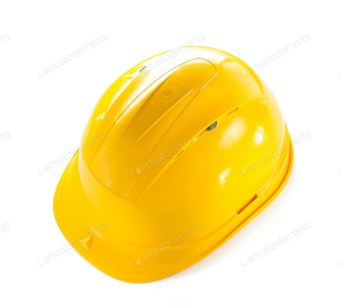 construction hard hat isolated on white