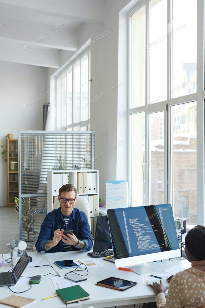 Hintergrund der IT-Abteilung