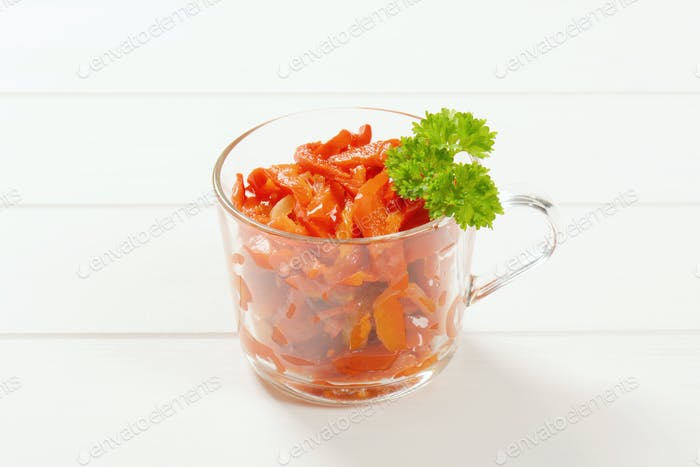 pickled red peppers