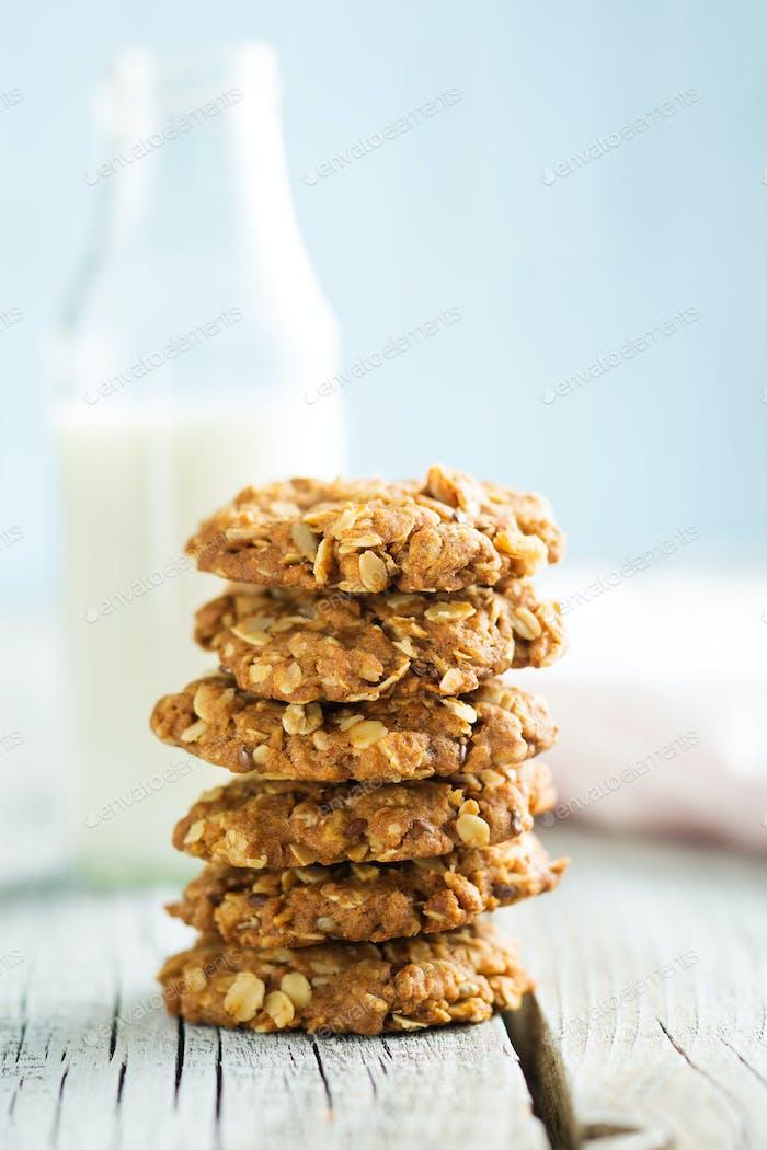 Homemade oatmeal cookies.