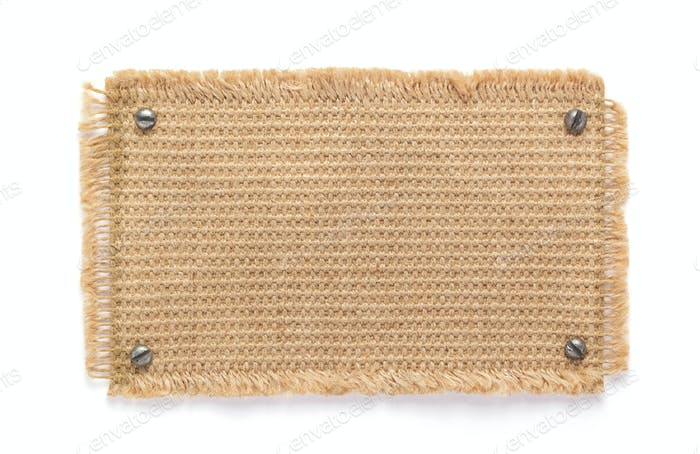 burlap hessian sacking texture  at white background