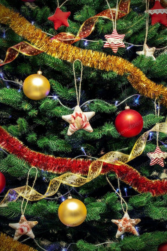 New year tree background