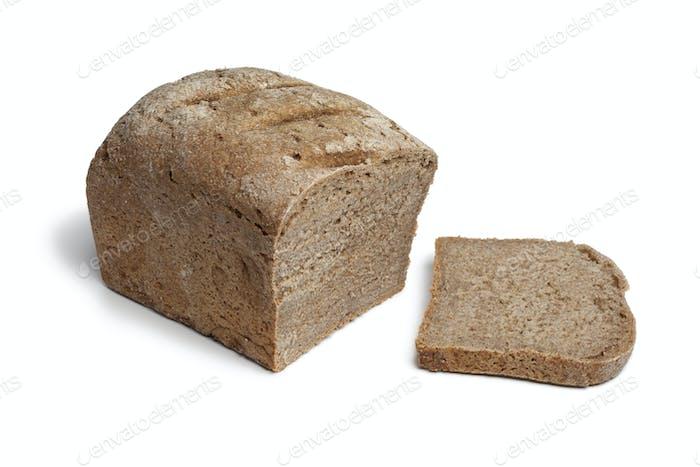 Loaf of sourdough rye bread