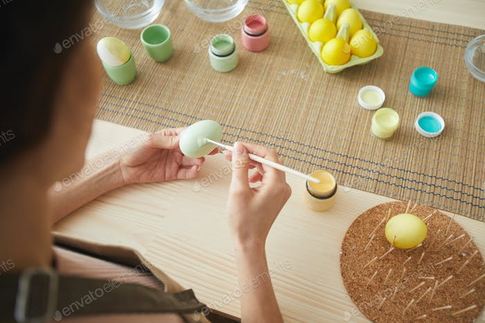 Hand-Painting Easter Eggs