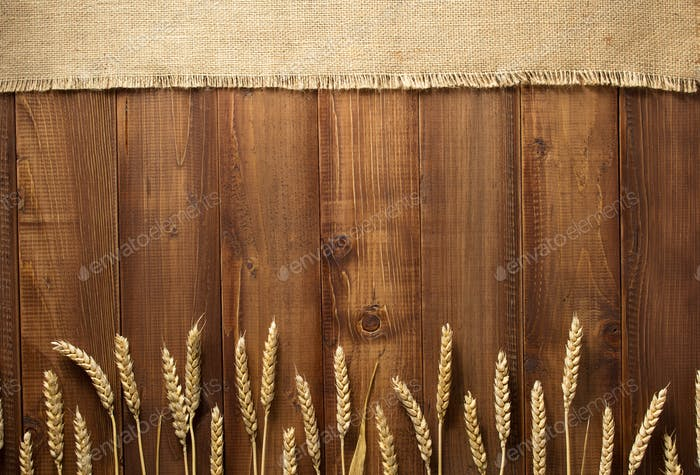 Thumbnail for wheat grains on wooden background