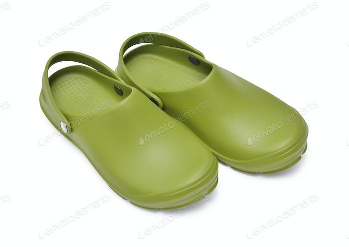 Clogs Green Khaki