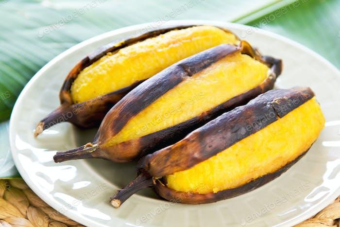 Plátano a la plancha