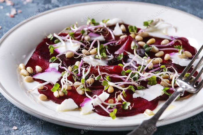 Thumbnail for Beetroot carpaccio salad