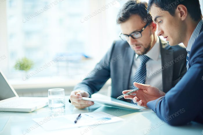 Businessmen with computer